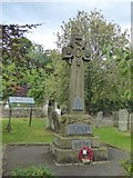 SK2375 : Stoney Middleton war memorial by David Smith
