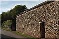 SX9379 : Door in wall, Langdon Barton by Derek Harper