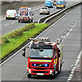 J3775 : Fire appliance, Sydenham bypass, Belfast (October 2017) by Albert Bridge