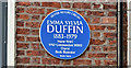 J3372 : Emma Sylvia Duffin plaque, Belfast (October 2017) by Albert Bridge