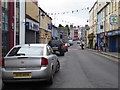 H4472 : Black and white bunting along John Street, Omagh by Kenneth  Allen