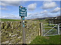 SK0484 : Peak & Northern Footpaths Society sign #5 by Graham Hogg