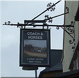 SJ9223 : Sign for the Coach & Horses, Stafford  by JThomas