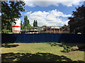 SP2865 : Extension to the Leisure Centre under construction, St Nicholas Park, Warwick by Robin Stott