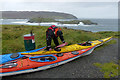 SC1766 : Preparing for sea kayaking (2), The Sound, Isle of Man by Robin Drayton