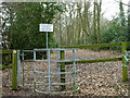 TQ2293 : Start of public footpath to Holcombe Hill by Robin Webster