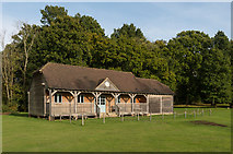 TQ4223 : Pavilion, Sheffield Park cricket ground by Ian Capper