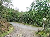 SH6441 : Footpath Junction by Keith Evans