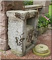 NJ6000 : An old stone cheese-press by Stanley Howe