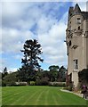 NJ6000 : Terraced lawn at the front  of Kincardine Castle by Stanley Howe