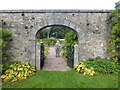 NJ6000 : Arched entrance to the walled garden by Stanley Howe