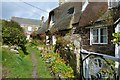 SW7214 : Pretty cottages at Cadgwith Cove, The Lizard Peninsula,Cornwall by Derek Voller