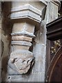 TF1337 : St Michael's Church:  Carved Head by Bob Harvey