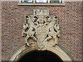 TL4458 : Crest above doorway by Bob Harvey