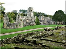 SE2768 : Fountains Abbey by G Laird