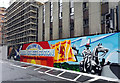 NS5965 : Queen Street railway station mural by Thomas Nugent