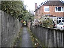 SJ8801 : Public footpath to Derwent Road, Palmers Cross by Richard Vince