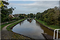 SJ8156 : Canal Boat on the Trent & Mersey Canal Lock 52 by Brian Deegan