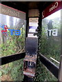 SO3717 : Inside a former BT phonebox, Caggle Street, Monmouthshire by Jaggery