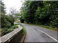 SO3717 : Bend in Old Ross Road, Caggle Street, Monmouthshire by Jaggery