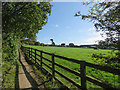 SK4942 : Bridle path and paddock by John Sutton