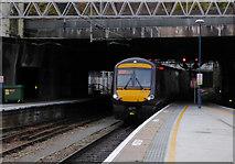 SP0686 : Train entering New Street Station in Birmingham by Roger  Kidd