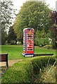 ST5673 : Ring a Royal Phone Box, Clifton Mall Gardens by Derek Harper