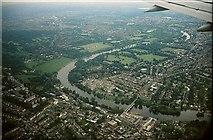 TQ1773 : Thames at Richmond from the air, 2001 by Derek Harper