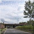 SJ8646 : B5045 bridge over A500 by David Smith