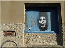 SK3487 : Image in a window recess on Doncaster Street by Neil Theasby