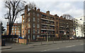 TQ3276 : Lilford House flats seen across Coldharbour Lane, Camberwell, south London by Robin Stott
