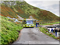 C9444 : Shuttle Bus Arriving at The Giant's Causeway by David Dixon