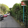 ST0091 : Dinas railway station name sign by Jaggery