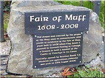 N7496 : Fair of Muff plaque by Oliver Dixon