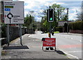 ST3093 : Signs facing Newport Road, Llantarnam, Cwmbran by Jaggery