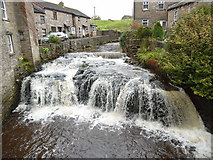 SD8789 : Weir and Waterfall, Hawes by David Hillas