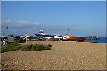 TR3752 : Beached fishing boats, Deal by Robin Webster