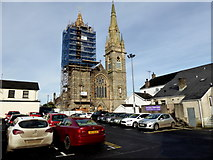 H4472 : Renovations to church spire, Omagh by Kenneth  Allen