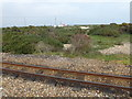 TR0817 : Looking across the railway near Dungeness station by Marathon