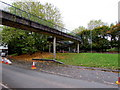 ST3188 : Footbridge junction, Crindau, Newport by Jaggery