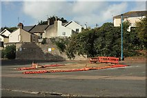 SX9164 : Downed barriers, Torquay coach station by Derek Harper