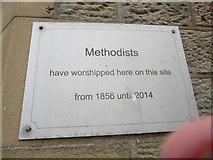 SD8789 : Plaque on former Methodist Church, Hawes by David Hillas