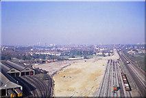 TQ2572 : Wimbledon Traincare depot under construction by Shantavira