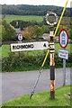 NZ1000 : Village view across minor road in Marske by Roger Templeman