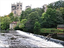 NZ2742 : Weir on the River Wear, Old Fulling Mill and Durham Cathedral by G Laird
