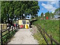 SJ0843 : Corwen East station - exit ramp by Stephen Craven
