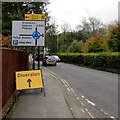 SU1868 : A345 directions sign, Marlborough by Jaggery