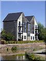 SJ8847 : Modern canalside apartments near Hanley, Stoke-on-Trent by Roger  Kidd