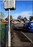 ST3091 : Cycle route 88 direction sign, Almond Drive, Malpas, Newport by Jaggery