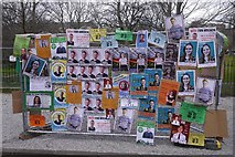 NT2572 : Election posters, George Square by Richard Webb